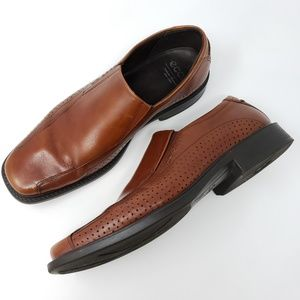 ECCO Loafers Vented Slip On Casual Dress Shoes